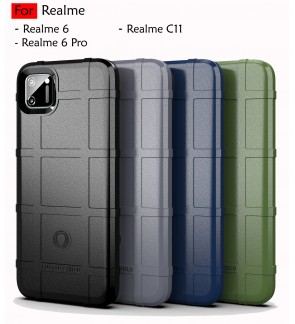Realme 6 Realme 6 Pro C11 Rugged Shield Thick TPU Shockproof Case Cover Airbag Camera Lens Protection Casing Housing