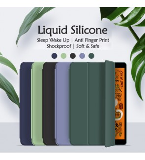 Huawei Matepad Pro Mediapad M6 M5 Lite Liquid Silicone Thin Flip Case Smart Sleep And Wake Up Pouch Cover Casing Housing