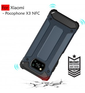 Xiaomi Poco X3 NFC Rugged Armor Protection Case Cover Hard Casing Shockproof Housing