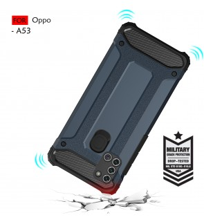 Oppo A53 Rugged Armor Protection Case Cover Hard Casing Shockproof Housing