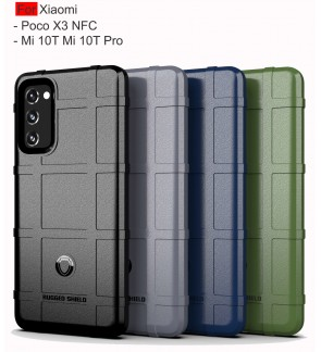 Xiaomi Poco X3 NFC Mi 10T Mi 10T Pro Rugged Shield Thick TPU Shockproof Case Cover Airbag Camera Lens Casing Housing
