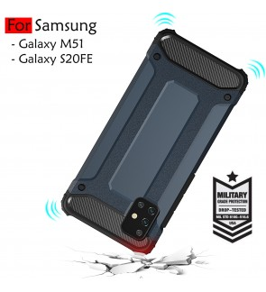 Samsung Galaxy M51 S20 FE 5F Fan Edition Rugged Armor Protection Case Cover Hard Casing Shockproof Housing
