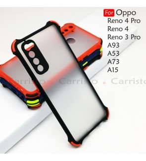Oppo Reno 4 Pro Reno 3 Pro A53 A93 A73 A15 Phantom Shockproof Protection Case Housing Silicone Hard Back Cover Casing