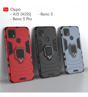 Oppo A15 A15S Reno 5 Reno5 Pro Car Holder Back Case Cover Shockproof Protection Casing Phone Mobile Housing Iring