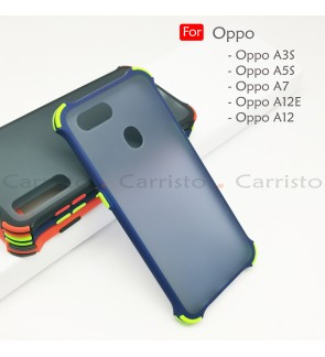 Oppo A5S A3S A7 A12 A12E Bogey Shockproof Case Housing Hard Back Cover Casing