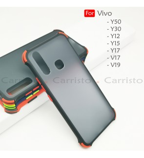 Vivo Y12 Y15 Y17 Y50 Y30 V17 V19 Bogey Shockproof Protection Case Housing Silicone Hard Back Cover Casing