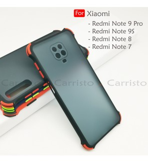 Xiaomi Redmi Note 9 Pro Note 9S Note 7 Note 8 Bogey Shockproof Protection Case Housing Silicone Hard Back Cover Casing