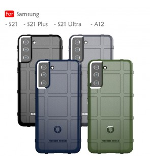 Samsung Galaxy S21 Plus S21 Ultra A12 S21+ Rugged Shield Thick TPU With Shockproof Design Case Cover Casing Housing