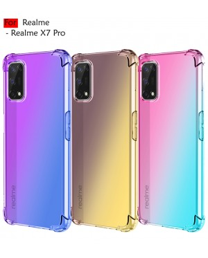Carristo Realme X7 Pro Anti-Shock Case Cover Rainbow Aurora TPU Soft Casing Housing
