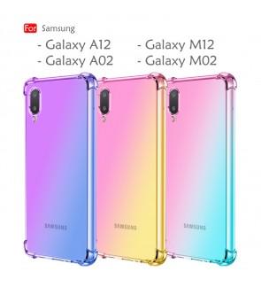 Samsung Galaxy A12 M12 A02 M02 Anti-Shock Case Cover Rainbow Aurora TPU Soft Casing Mobile Phone Housing