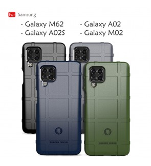 Samsung Galaxy M62 A02 M02 A02S Rugged Shield Thick TPU With Shockproof Design Case Cover Protection Casing Housing