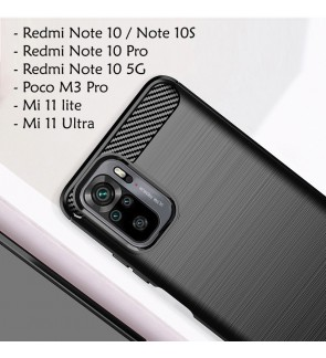 Xiaomi Redmi Note 10 5G 10S Note 10 Pro Mi 11 Lite 11 Ultra Poco M3 Pro Back Case Cover Brushed Silicone Soft Casing