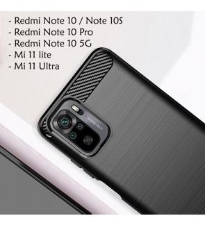 Xiaomi Redmi Note 10 5G 10S Note 10 Pro Mi 11 Lite 11 Ultra Back Case Cover Brushed Silicone Soft Casing Phone Housing