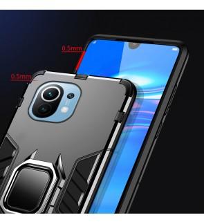 Xiaomi Mi 11 Lite Mi 11 Ultra Car Holder Back Case Cover Shockproof Protection Casing Phone Mobile Housing Metal Iring