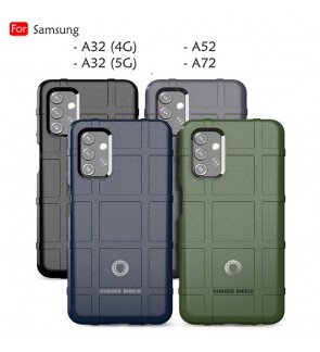 Samsung Galaxy A32 4G A32 5G A52 A72 Rugged Shield Thick TPU With Shockproof Case Cover Casing Phone Mobile Housing