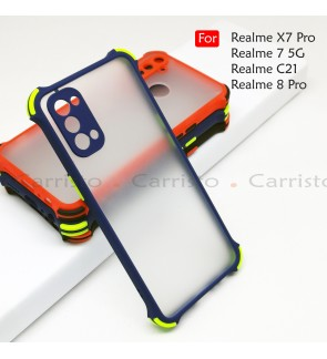 Realme 7 5G X7 Pro C21 Realme 8 Pro Phantom Shockproof Protection Case Housing Silicone Hard Back Cover Phone Casing
