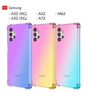 Samsung Galaxy A32 4G A32 5G A52 A72 M62 Anti-Shock Case Cover Rainbow Aurora TPU Soft Casing Mobile Phone Housing