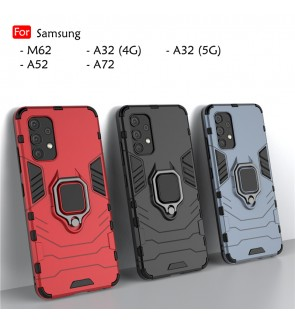 Samsung Galaxy A32 4G A32 5G A52 A72 M62 Car Holder Back Case Cover Shockproof Casing Phone Mobile Housing Metal Iring