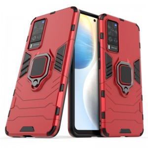 Vivo V20 X60 Y31 2021 Car Holder Back Case Cover Shockproof Protection Casing Phone Mobile Housing Metal Iring