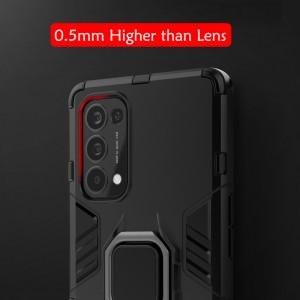 Realme X7 Pro Car Holder Back Case Cover Shockproof Protection Casing Phone Mobile Housing Metal Iring