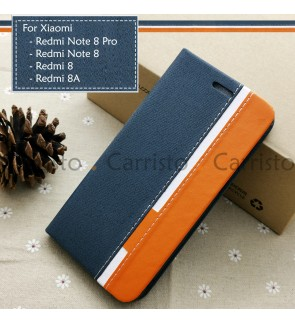 Xiaomi Redmi Note 8 Pro Redmi 8 8A Horizon Luxury Flip Case Card Bag Cover Stand Pouch Leather Casing Phone Housing