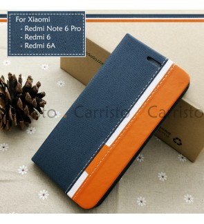 Xiaomi Redmi Note 6 Pro Redmi 6 6A Horizon Luxury Flip Case Card Bag Cover Stand Pouch Leather Casing Phone Housing