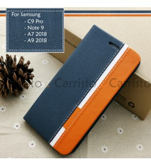 Samsung Galaxy C9 Pro Note 9 A7 2018 A9 2018 Horizon Flip Case Card Bag Cover Stand Pouch Leather Casing Phone Housing