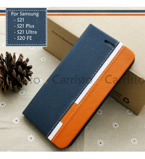 Samsung Galaxy S21 Plus S21+ Ultra S20 FE S20FE Horizon Flip Case Card Bag Cover Pouch Leather Casing Phone Housing