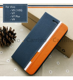 Vivo V9 V7 V7 Plus V5 V5S V7+ Horizon Luxury Flip Case Card Bag Cover Stand Pouch Leather Casing Phone Mobile Housing