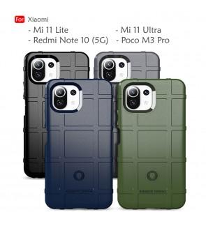 Xiaomi Mi 11 Lite Redmi Note 10 5G Poco M3 Pro Mi 11 Ultra Rugged Shield Thick TPU Shockproof Case Cover Casing Housing