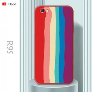 Oppo F9 A3S A5S A7 A12 A12E R9S Water Color Painting Rainbow Back Case Liquid Cover Casing Phone Mobile Housing