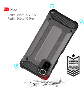 Xiaomi Redmi Note 10 Pro Note 10 10S Rugged Armor Protection Case Cover Hard Casing Shockproof Phone Mobile Housing