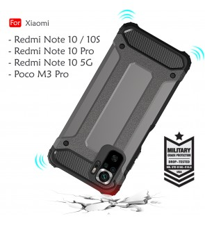 Xiaomi Redmi Note 10 Pro Note 10S 10 5G Poco M3 Pro Rugged Armor Case Cover Hard Casing Shockproof Phone Housing