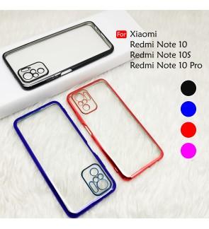Xiaomi Redmi Note 10 10S Redmi Note 10 Pro Electroplate Ver 4 Crystal Transparent Case Cover TPU Soft Camera Lens Casing