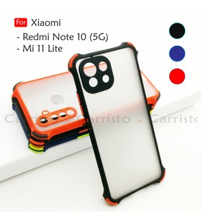 Xiaomi Mi 11 Lite Redmi Note 10 5G Phantom Shockproof Protection Case Housing Silicone Hard Back Cover Phone Casing