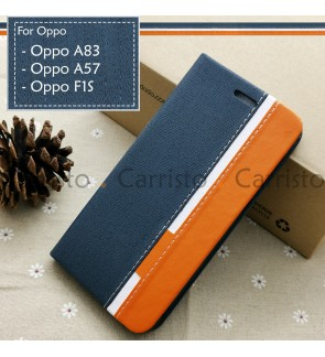 Oppo F1S A83 A57 Horizon Luxury Flip Case With Card Slot Bag Cover Stand Pouch Leather Casing Phone Mobile Housing