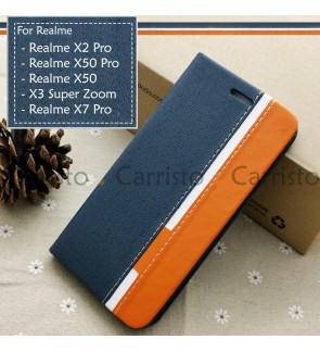 Realme X3 Super Zoom Realme X50 Pro X2 X7 Pro Horizon Luxury Flip Case Card Bag Cover Pouch Leather Casing Phone Housing