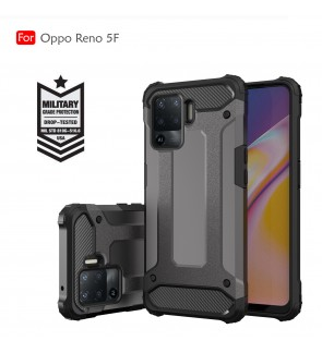 Oppo Reno 5F 5 F Rugged Armor Protection Case Cover Hard Casing Shockproof Phone Mobile Housing