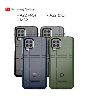 Samsung Galaxy A22 5G A22 4G M32 Rugged Shield Thick TPU Shockproof Design Case Cover Protection Casing Phone Housing