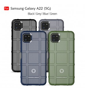 Samsung Galaxy A22 5G Rugged Shield Thick TPU With Shockproof Design Case Cover Protection Casing Phone Mobile Housing