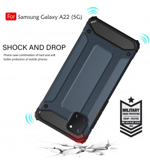 Samsung Galaxy A22 5G Rugged Armor Protection Case Cover Hard Casing Shockproof Phone Mobile Housing