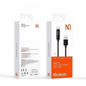 MCDODO Type-C 5A Apple Lightning 3A Cable Super Fast Charge Charger Type C Data Sync Wire Thicker Nylon Braided Charging