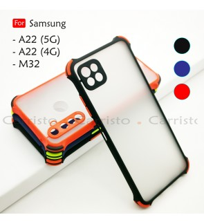 Samsung Galaxy A22 5G A22 4G M32 Phantom Shockproof Protection Case Housing Silicone Hard Back Cover Phone Camera Casing