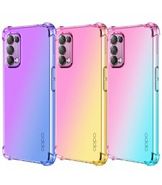 Oppo Reno 6 5G Reno 6Z Anti-Shock Case Cover Rainbow Aurora TPU Soft Casing Mobile Phone Housing