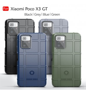 Xiaomi Poco X3 GT Rugged Shield Thick TPU With Shockproof Design Case Cover Protection Casing Phone Mobile Housing