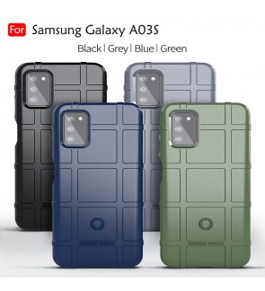 Samsung Galaxy A03S Rugged Shield Thick TPU With Shockproof Design Case Cover Protection Casing Phone Mobile Housing