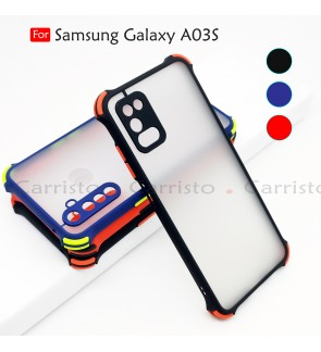 Samsung Galaxy A03S Phantom Shockproof Protection Case Housing Silicone Back Cover Phone Mobile Casing Camera Protect