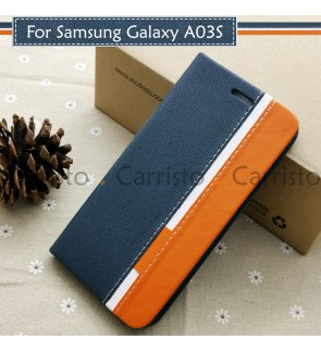 Samsung Galaxy A03S Horizon Luxury Flip Case With Card Slot Bag Cover Stand Pouch Leather Casing Phone Mobile Housing