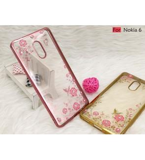 Nokia 6 Plating TPU Secret Garden Soft Case Cover Casing