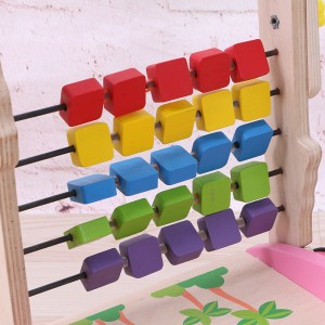 Wooden Toys Toy Kids Baby Children Colorful Trolley Walker